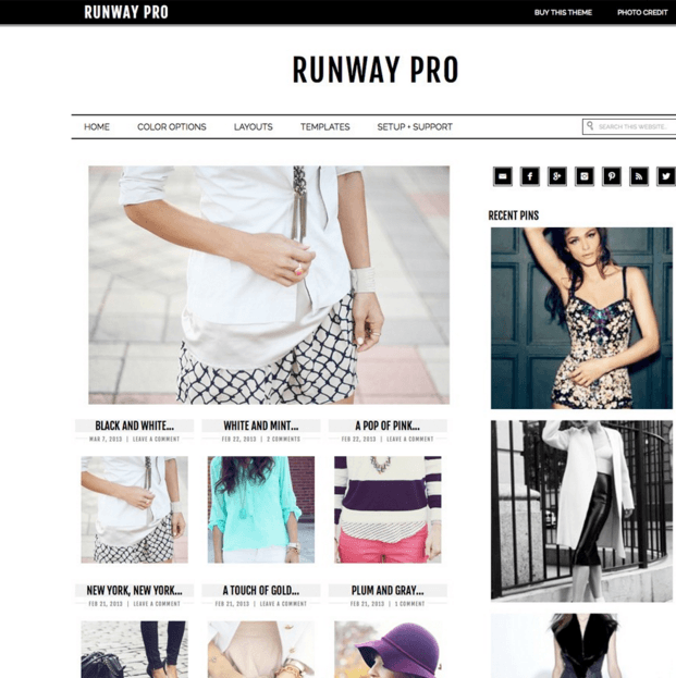 Runway Pro - A WordPress blog theme