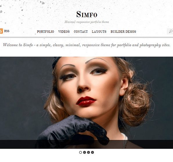 Simfo- A minimal Responsive WordPress theme for Portfolio and blog