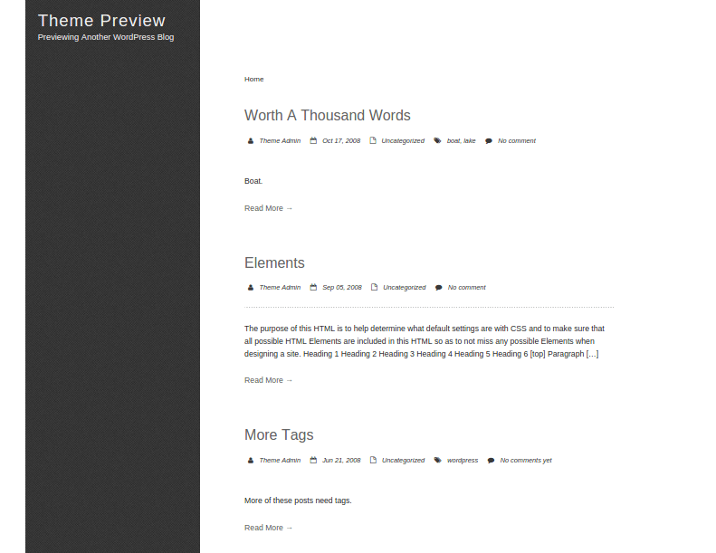 SinglePage-WordPress-Theme