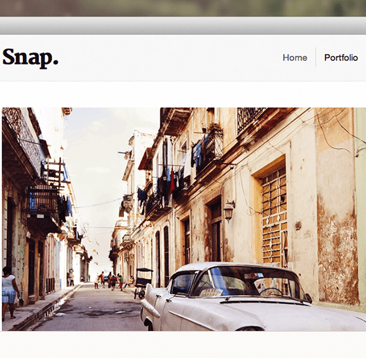 Snap - Portfolio theme perfect for showcasing your portrait images and galleries.