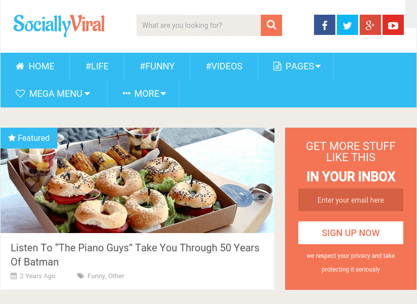 SociallyViral - WordPress Theme