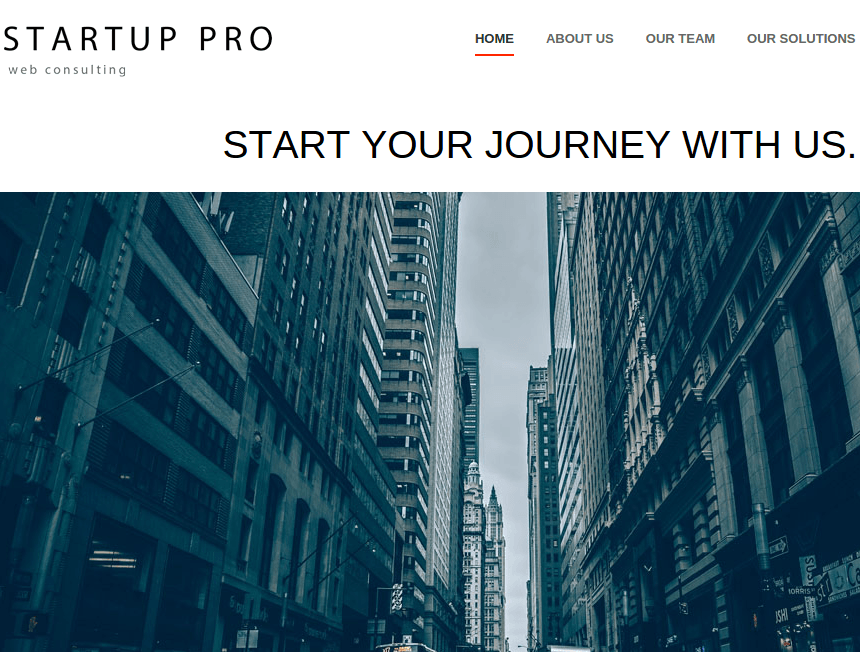 Startup Pro Homepage