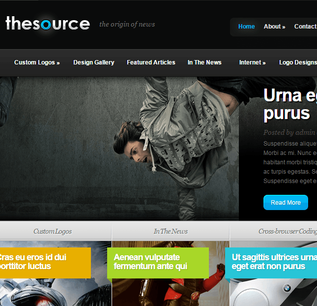 TheSource- A News, Magazine, Blog style WordPress theme