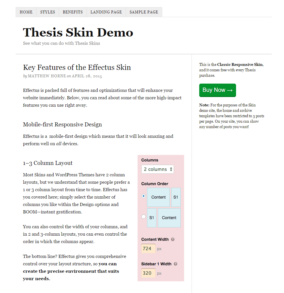 Why I Switched to the Thesis Theme and What Happened When I Did