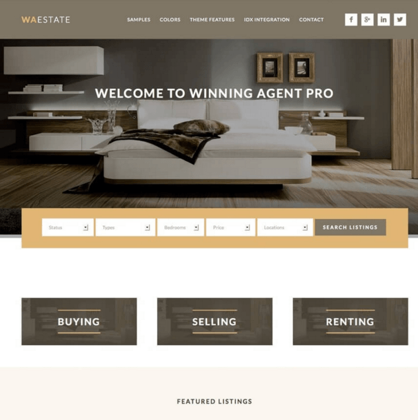 Winning Agent - Real Estate WordPress theme