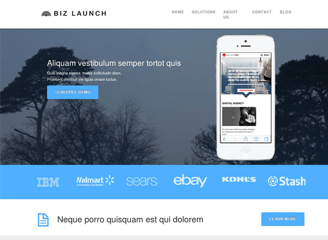 Business Launcher Pro- A responsive Corporate WP theme