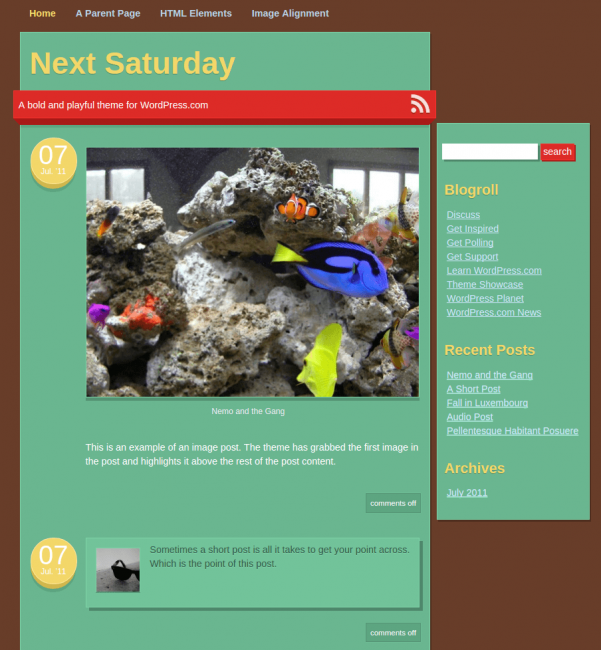 Next-Saturday-WordPress