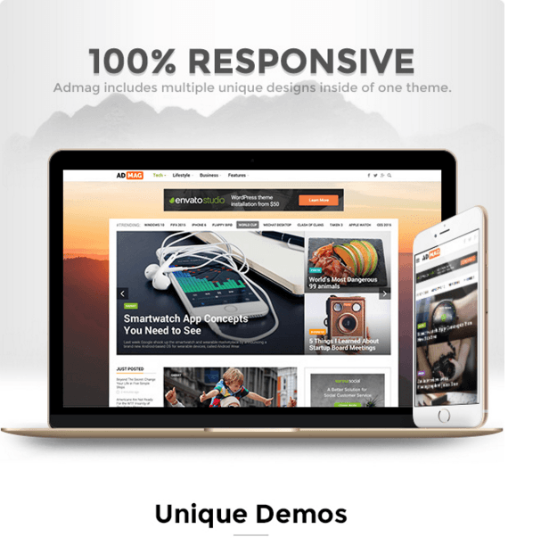 ADMAG - Blog and magazine WordPress theme