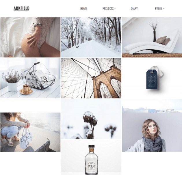ARKFIELD - An Elegant WordPress Portfolio theme