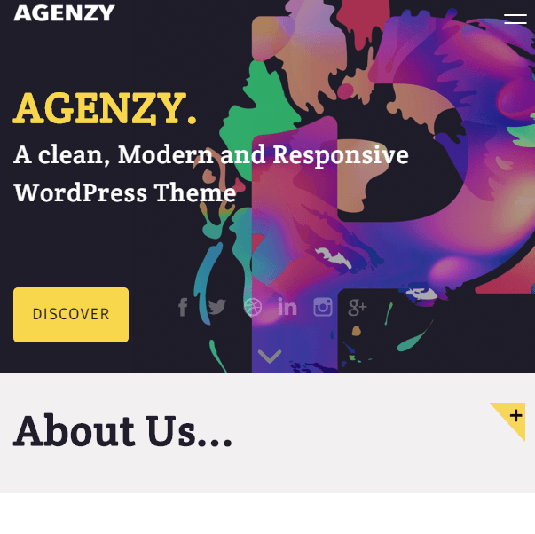 Agenzy - Multipurpose WordPress theme.