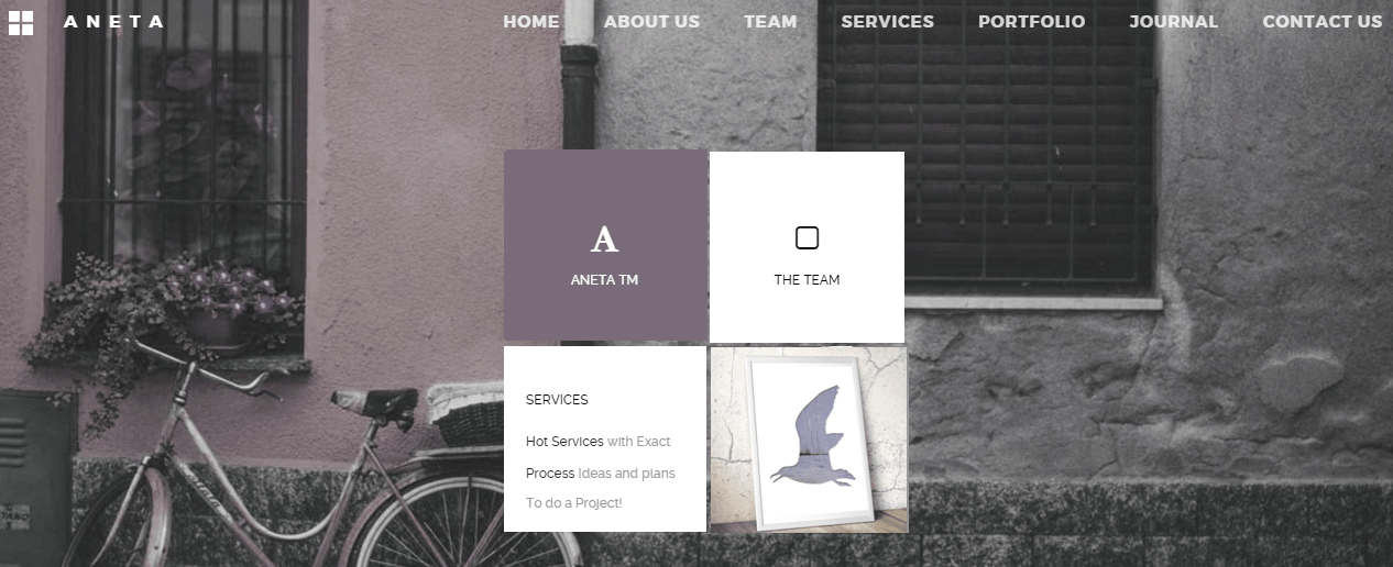 Aneta- Agency website with metro style