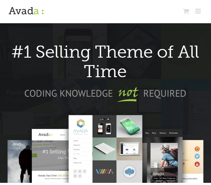 Avada- Multipurpose WordPress theme- Landing pages