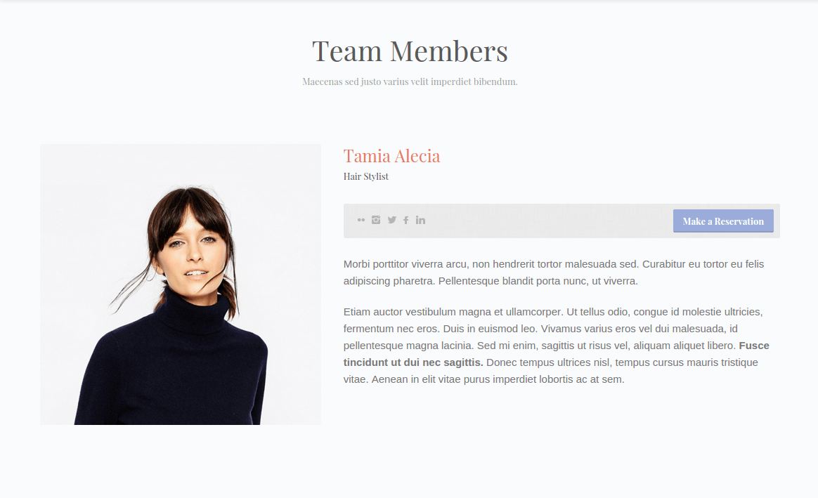 BeautyPress Team Member Page