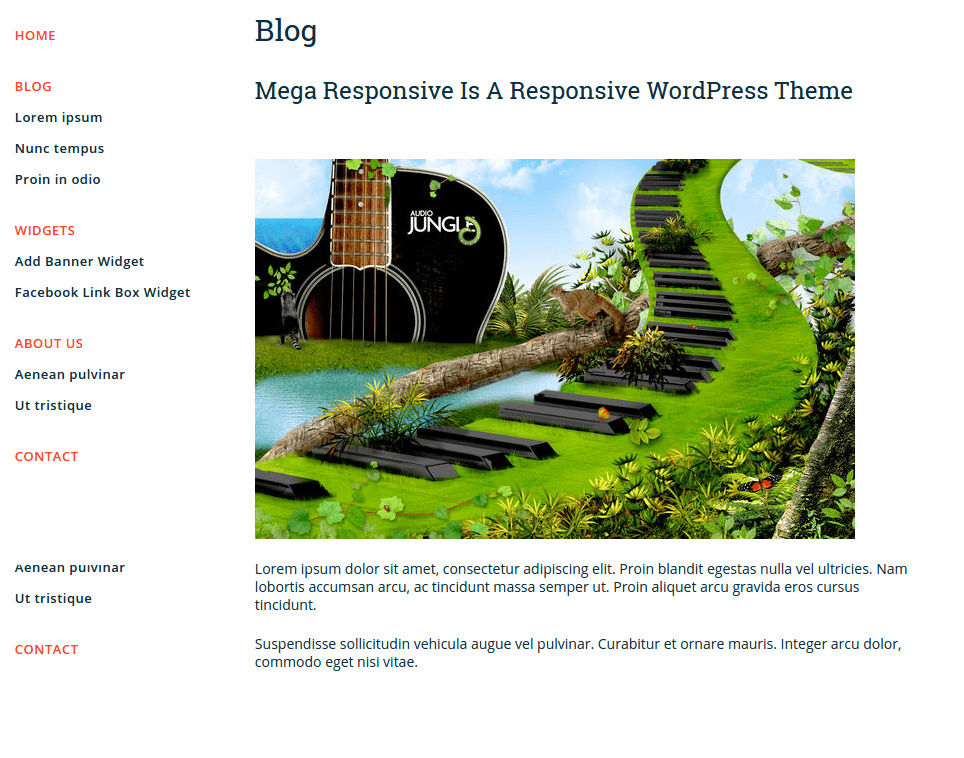 Blog Page of MegaResponsive Lite