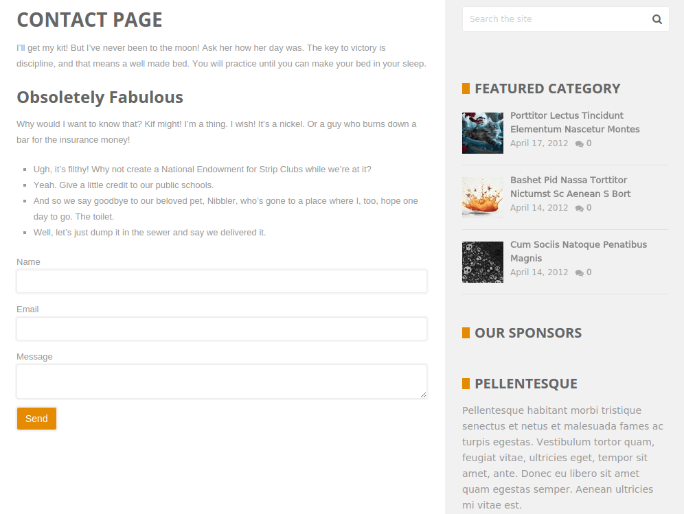 BookShelf Contact Page