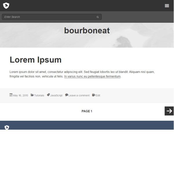Bourboneat - Starter WordPress theme