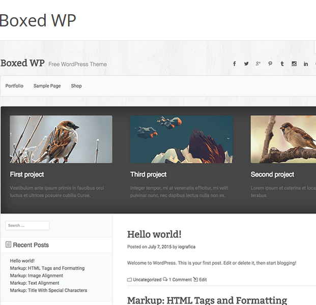 Boxed WP WordPress Theme