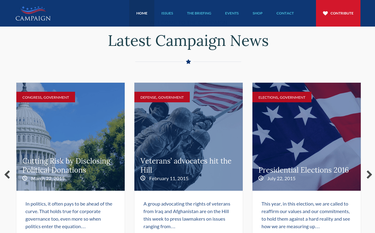 Campaign Latests News Section