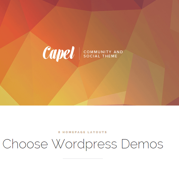 Capel - Multipurpose BuddyPress WordPress theme