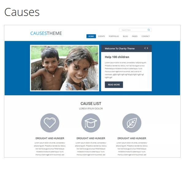 Causes WordPress Theme