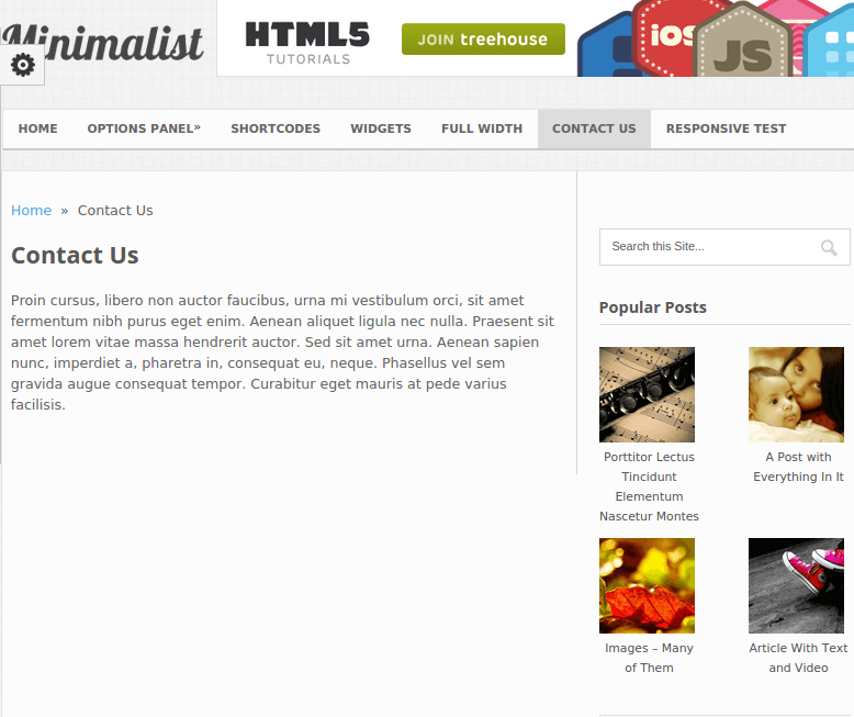 Minimalist WordPress theme for magazine and Blogging