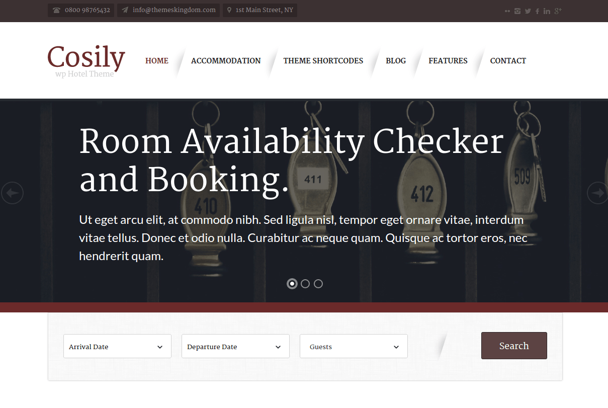 Cosily Home Page