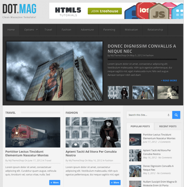 DotMag-Wordpress theme
