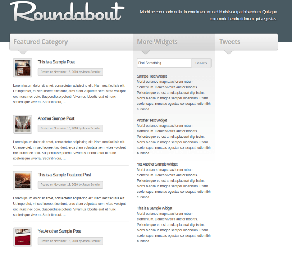 Featured Categary Page of Roundabout