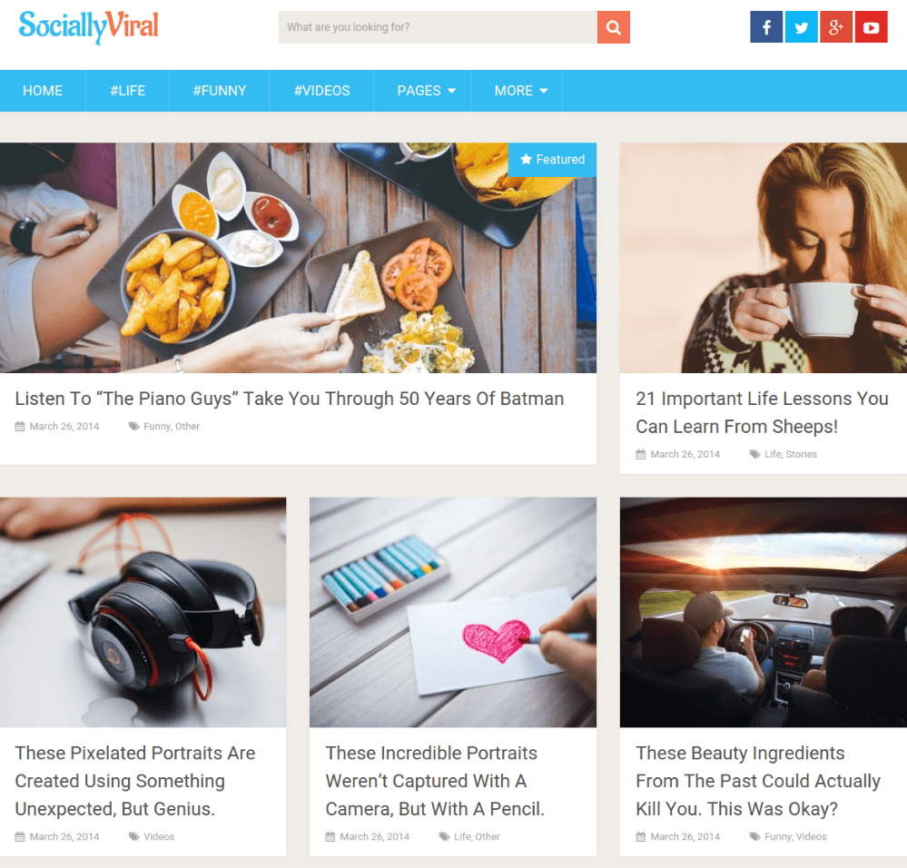 Frontpage of SociallyViral