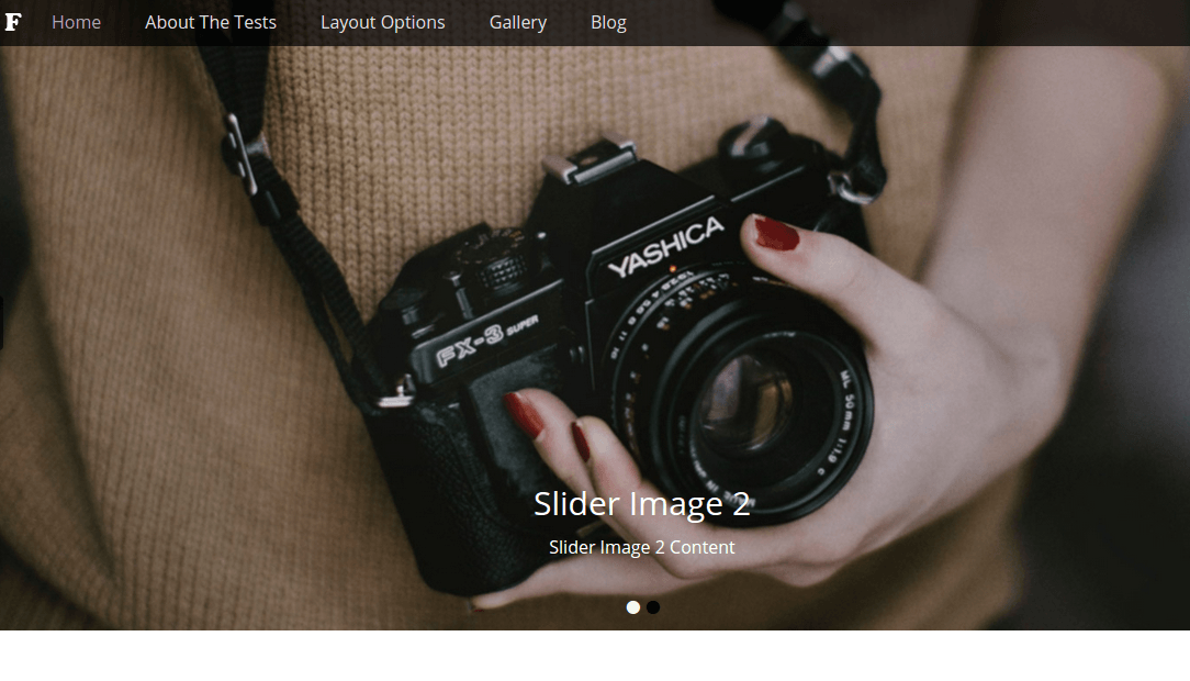 Full Frame Home Pages