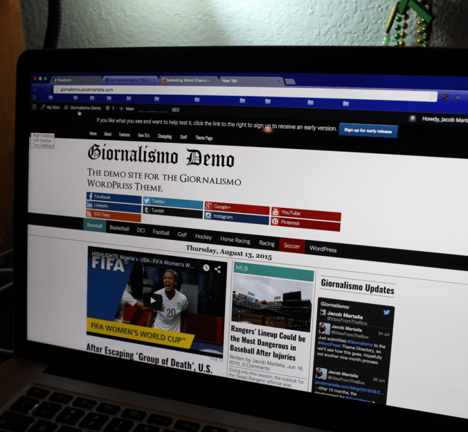 Giornalismo - WordPress theme used for creating news websites