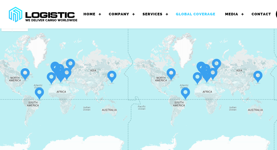 Global coverage page of logistic