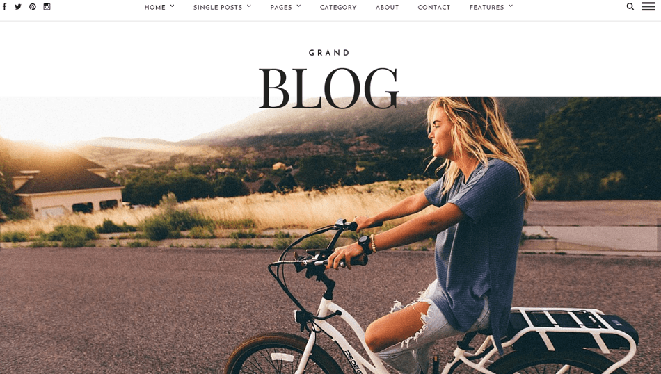 Grand Blog- Front page featured with slider
