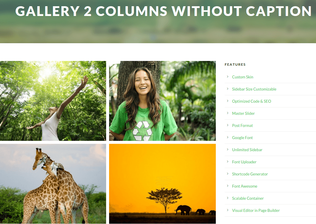 Green Nature Gallery Page