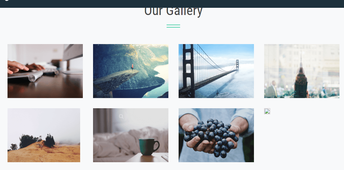 Grid layout gallery shown by Limo theme