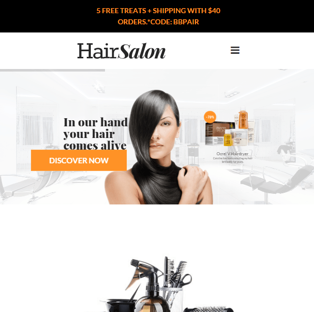 Hair Salon- A WordPress theme for barbers