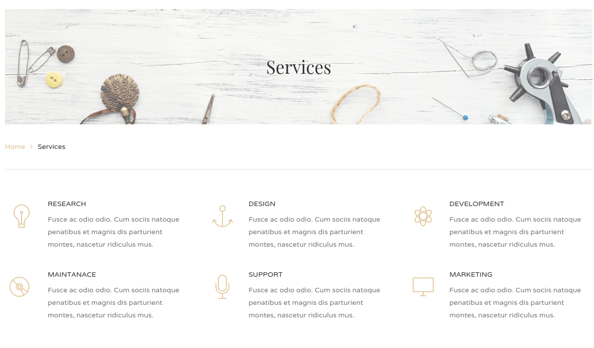 Handmade Services Page