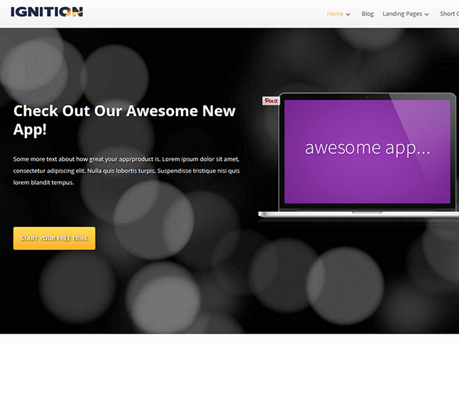 Ignition - WordPress theme for building marketing websites