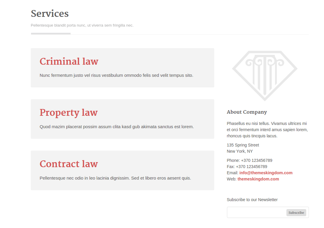 Legalized Services Page