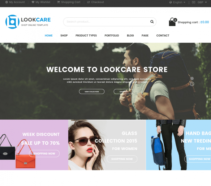Lookcare-Wordpress-homepage
