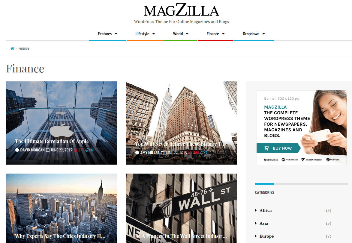MagZilla Finance Page