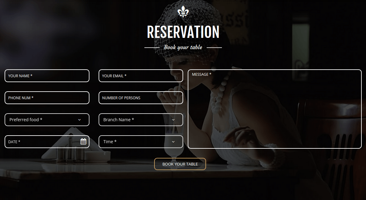 Majesty Reservation Page