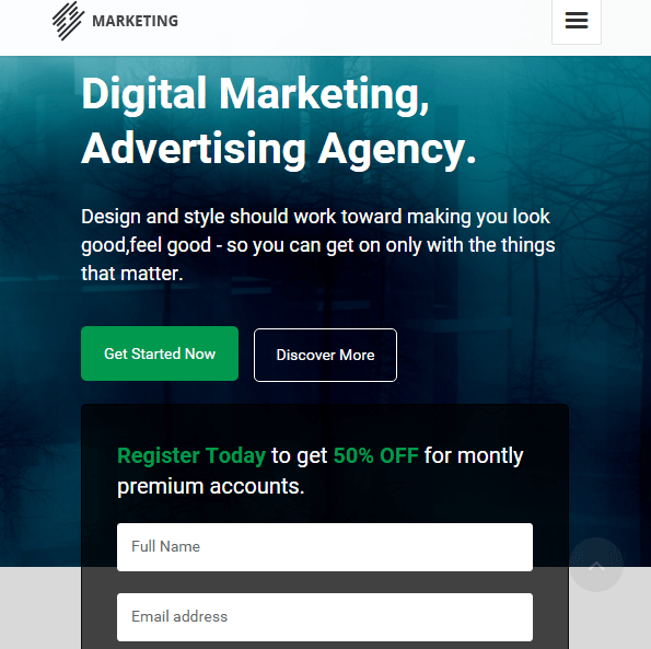 Marketing Landing page theme