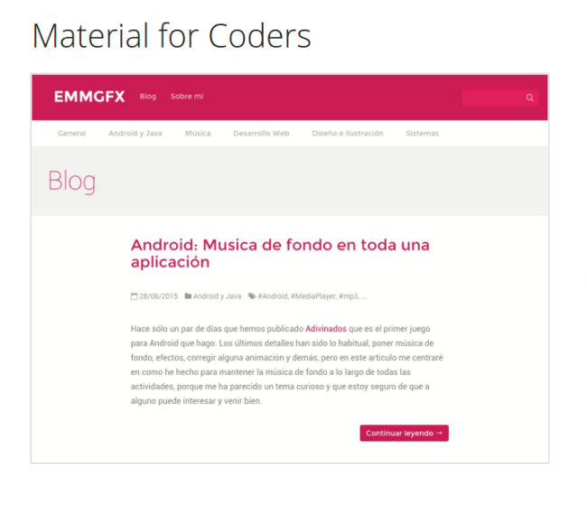 Material for Coders Theme