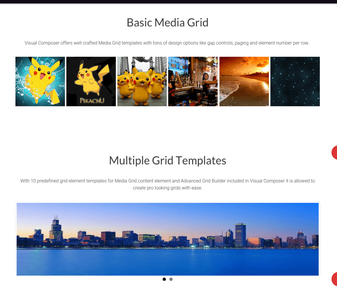 Media Grid Page of MyCity