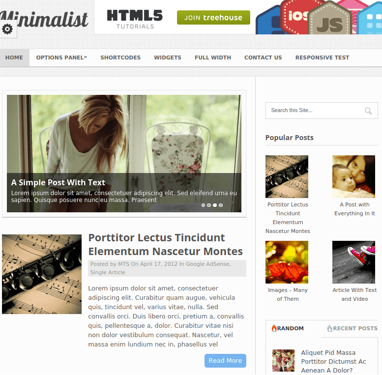 Minimalist-Wordpress