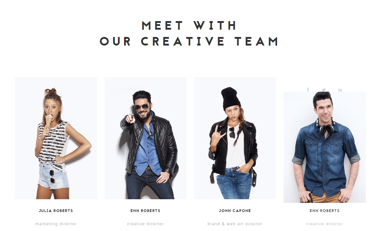 NRGagency- Team section built with visual composer