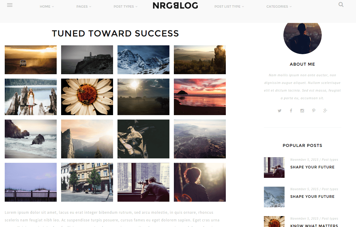 NRGblog Gallery Page
