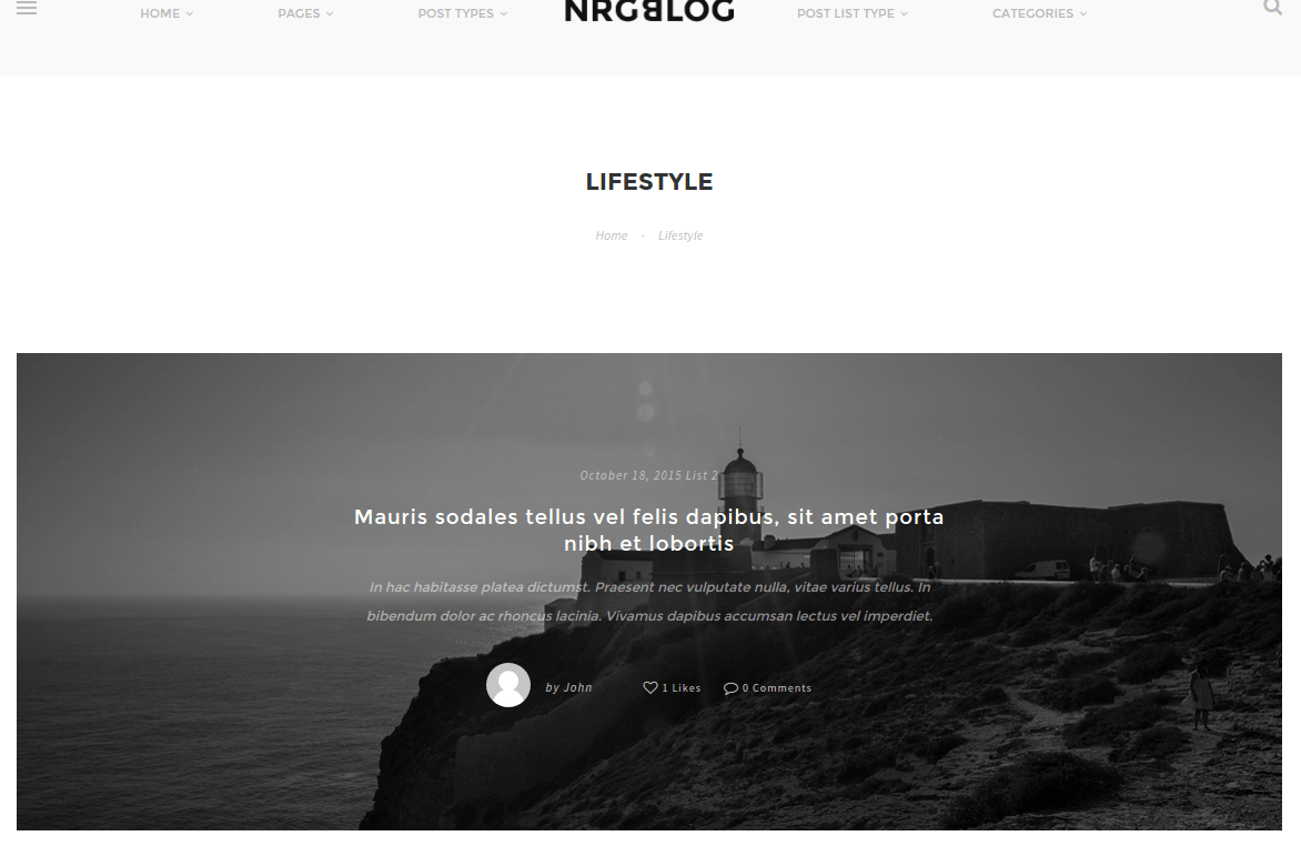 NRGblog Lifestyle Page