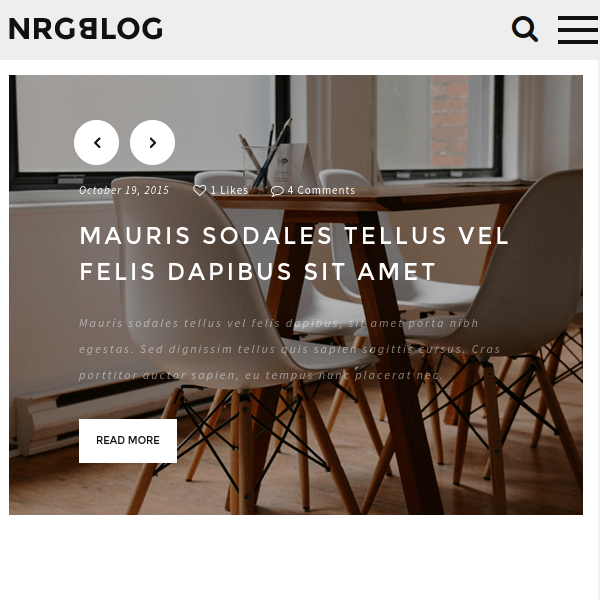 NRGblog - Clean WordPress Blog Theme